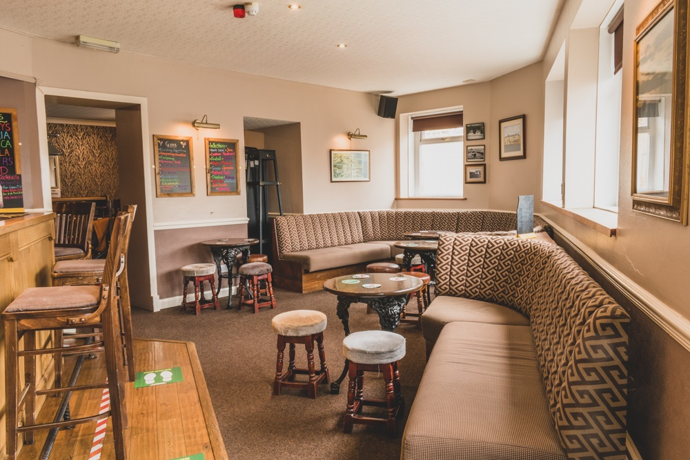 Bar area at The Masons Arms in Amble.