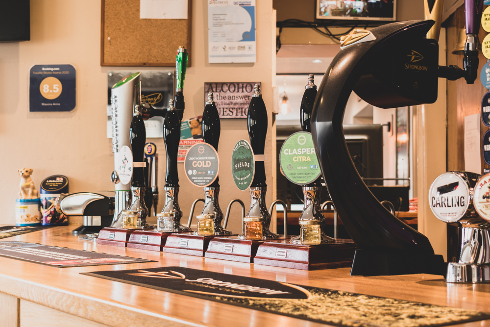 Extensive range of beers, lagers, spirits and real ales.